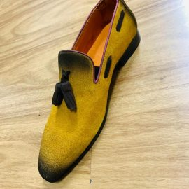 Mustard Leather/Suede Loafer