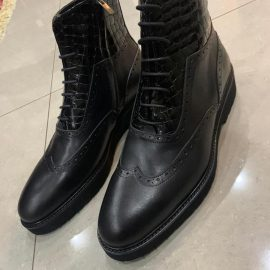 Black High-end Leather Boot