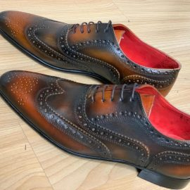 Brown Lace-ups with Red Inner Sole