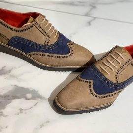 Handcrafted Multi-colour Brogue Sneakers
