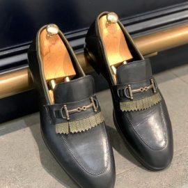 Olive & Black Classic Loafer