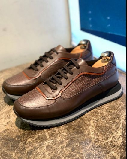 Leather Jogger Sneakers