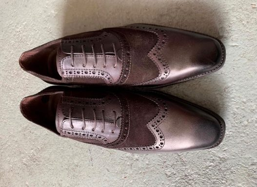 brogue suede/leather with prada sole