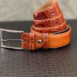 Genuine Leather Patterned Belt