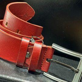 Genuine Leather Red Belt