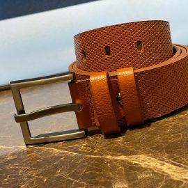 Genuine Leather Hole Pattern Belt