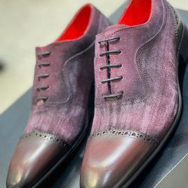 Burgundy Suede/Leather Formal