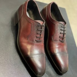 Hand Painted Maroon Two-toned Lace-up Formal
