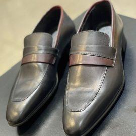 Maroon/Black Loafer