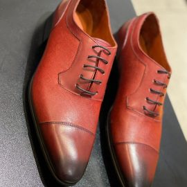 Red Leather Lace-up Formal