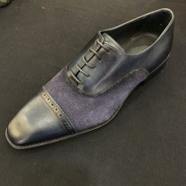 Navy Suede Leather Formal